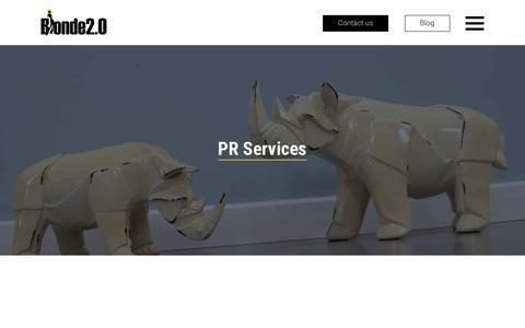 Screenshot of Services Page blonde20.com - Services We Offer – Blonde 2.0 - captured Aug. 2, 2018
