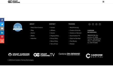 Screenshot of Contact Page grantcardone.com - Contact - Grant Cardone - captured July 27, 2018