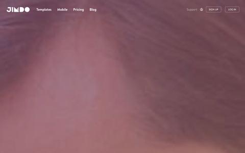 Screenshot of Home Page jimdo.com - Create a Free Website with our Website Builder - Jimdo - captured Dec. 21, 2015