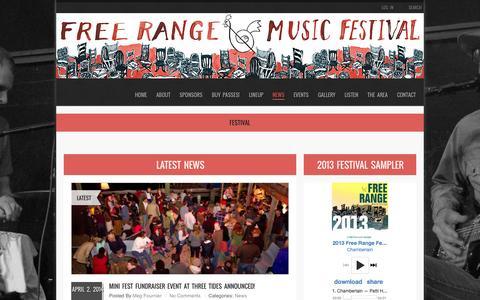 Screenshot of Press Page freerangemusicfestival.com - Festival | BELFAST FREE RANGE MUSIC FESTIVAL - captured Sept. 30, 2014