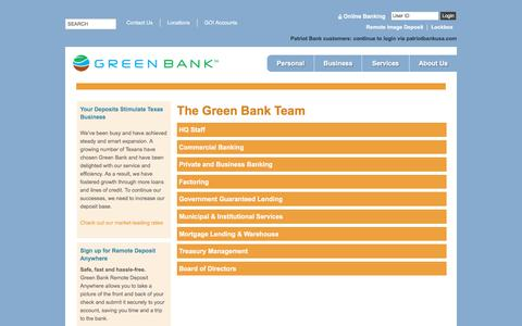Screenshot of Team Page greenbank.com - Green Bank | The Green Bank Team - captured Feb. 2, 2016