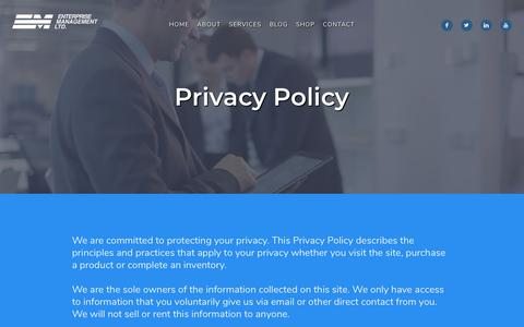Screenshot of Privacy Page enterprisemgt.com - Privacy policy | Enterprise Management Ltd - captured Sept. 28, 2018