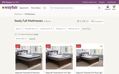 Sealy Full Mattresses You'll Love   Wayfair