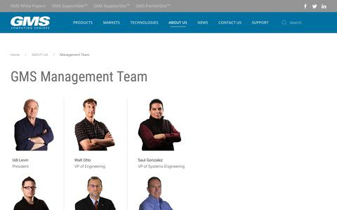 Screenshot of Team Page gms4sbc.com - Management Team - captured Sept. 27, 2018