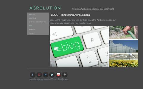Screenshot of Blog agrolution.com - BLOG – Innovating Agribusiness | AGROLUTION - captured Feb. 4, 2016