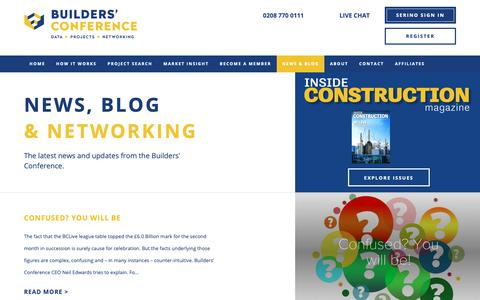 Screenshot of Press Page buildersconference.co.uk - The Builders' Conference - Construction tender leads, Construction tender opportunities, Builders profile, Construction analysis, Market intelligence, Sales leads UK, Building projects, Building data, Building contracts awarded, Researchers - captured Nov. 15, 2018