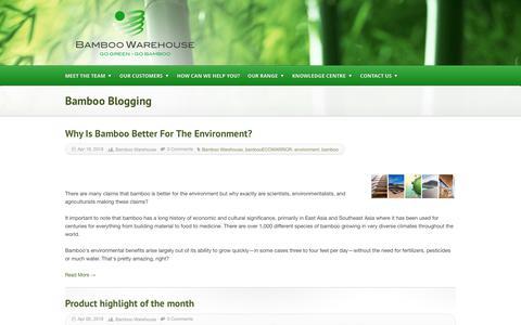 Screenshot of Blog bamboowarehouse.co.za - Bamboo Blogging - captured Aug. 1, 2018