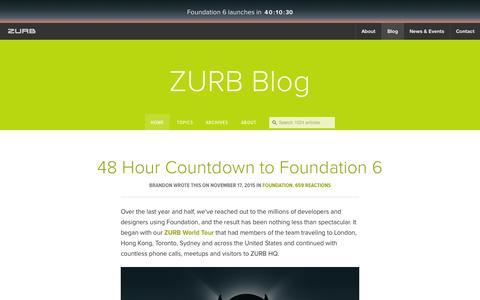 Screenshot of Blog zurb.com - Interaction Design and Design Strategy | ZURB Blog - captured Nov. 17, 2015