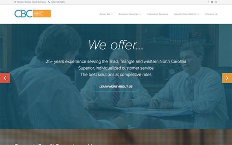 Screenshot of Blog cbcws.com - Corporate Benefit Concepts | Health, Employee Benefits, Life, Disability, Group Insurance in Winston Salem, North Carolina - captured Oct. 2, 2014
