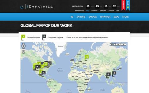 Screenshot of Maps & Directions Page iempathize.org - Global Map of Our Work | iEmpathize - Eradicating Child Exploitation, Empowering Solutions to End Human Slavery - captured Sept. 30, 2014