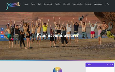 Screenshot of About Page snowave.it - About – Snowave - captured Sept. 20, 2018