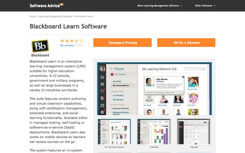 Blackboard Learn Software - 2018 Reviews & Pricing