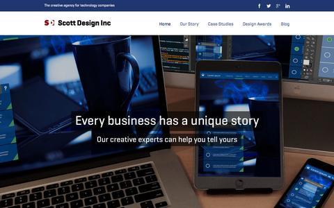 Screenshot of Home Page hotdesign.com - Scott Design The creative agency for technology companies - captured Jan. 23, 2015
