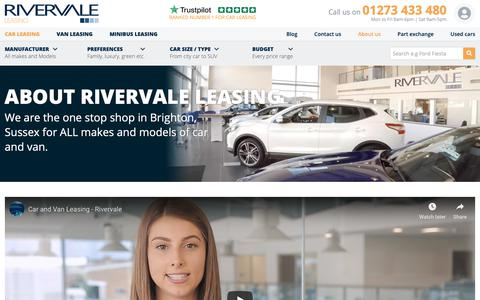 Screenshot of About Page rivervaleleasing.co.uk - About Us | Rivervale Car and Van Leasing - captured Jan. 21, 2019