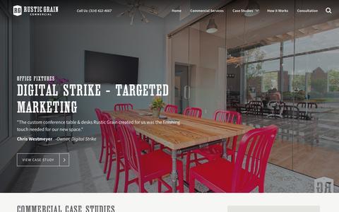 Screenshot of Case Studies Page rusticgrain.com - Commercial Case Studies | Rustic Grain - captured Dec. 7, 2016