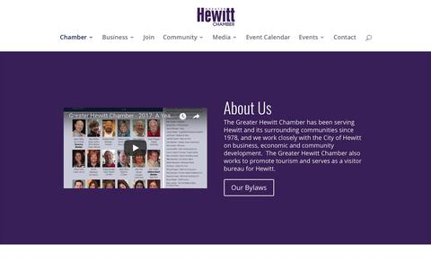 Screenshot of About Page hewittchamber.com - About Us - Greater Hewitt Chamber of Commerce - captured Sept. 30, 2018