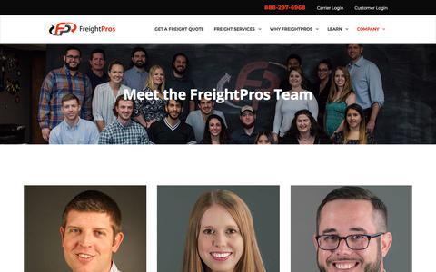 Screenshot of Team Page freightpros.com - Freight Pros Team Members | FreightPros - captured Aug. 17, 2018