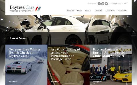 Screenshot of Press Page baytreecars.com - Latest News - Baytree Cars - captured Dec. 30, 2015