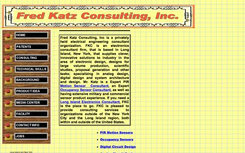 Screenshot of Home Page fredkatzconsulting.com - Fred Katz Consulting - captured Oct. 6, 2014