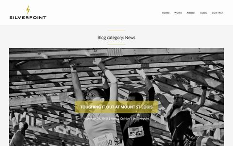 Screenshot of Press Page silverpoint.ca - News Archives - Award-winning content production agency in film, motion and 3D | Silverpoint Media - captured Oct. 7, 2014