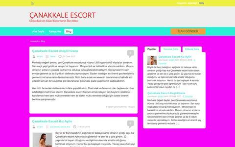 Screenshot of Blog canakkalebutikotel.com - Blog | ÇANAKKALE ESCORT - captured Jan. 29, 2017