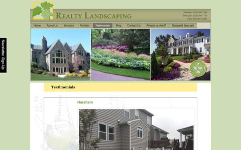 Screenshot of Testimonials Page realtylandscaping.com - Landscape Design and Maintenance Customer Testimonials - captured Oct. 20, 2018