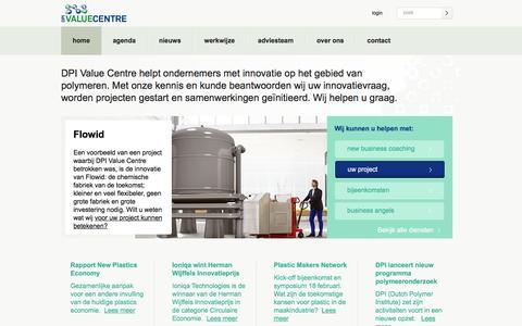 Screenshot of Home Page dpivaluecentre.nl - Home - DPI Value Centre - captured March 5, 2016