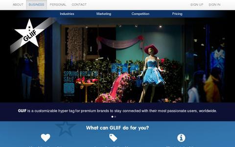 Screenshot of Home Page gliif.com - GLIIF|Home - captured July 11, 2014