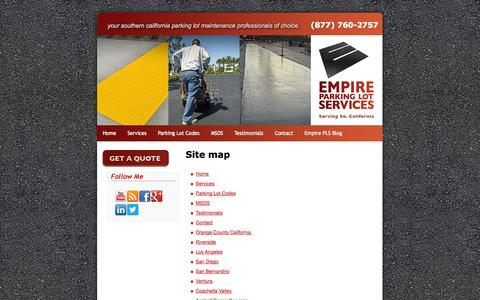 Screenshot of Site Map Page empirepls.com - Sitemap: - captured Nov. 2, 2014