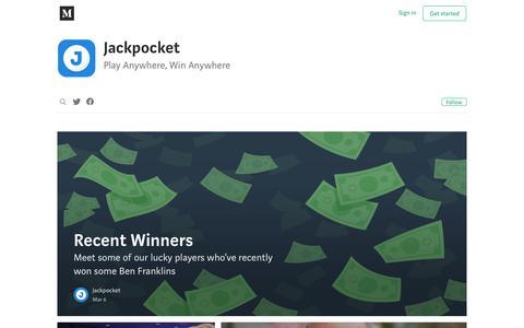 Screenshot of Blog jackpocket.com - Jackpocket - captured July 13, 2018