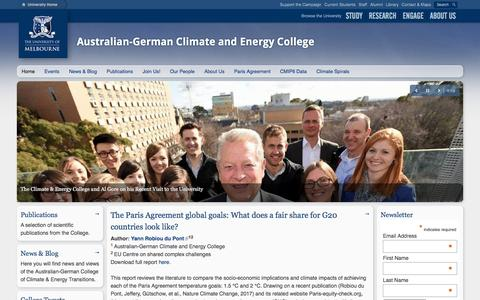 Screenshot of Home Page climate-energy-college.org - Australian-German Climate and Energy College - captured May 1, 2017