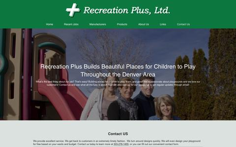 Screenshot of Contact Page recreationplus.com - Recreation Plus Builds Places for Children to Play - captured Nov. 29, 2016