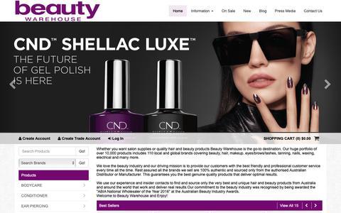 Screenshot of Home Page beautywarehouse.com.au - Home Page - Beauty Warehouse - captured Nov. 4, 2018
