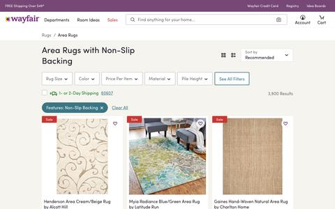 Area Rugs with Non-Slip Backing You'll Love | Wayfair