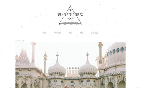 Screenshot of About Page weheartpictures.com - Alternative Wedding Photographer in London | We Heart Pictures | Creative Reportage Wedding Photography covering London UK and Overseas - captured March 13, 2016