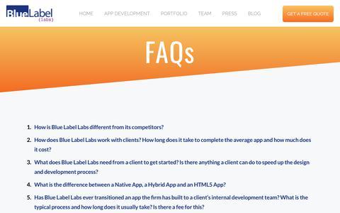 Mobile App Builder FAQ's
