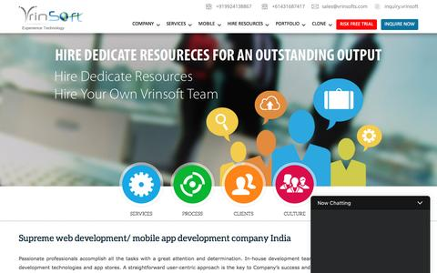 Screenshot of Home Page vrinsofts.com - ᐅ Vrinsoft : Web & Mobile App Development company in India - captured March 30, 2017