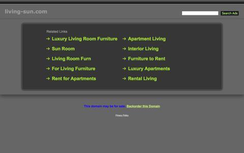 Screenshot of Home Page living-sun.com - Living-Sun.com - captured March 14, 2016