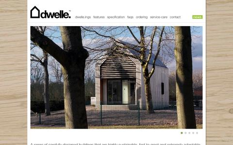 Screenshot of Home Page dwelle.co.uk - dwelle. : high quality, zero-carbon, prefabricated eco-buildings - captured Sept. 23, 2014