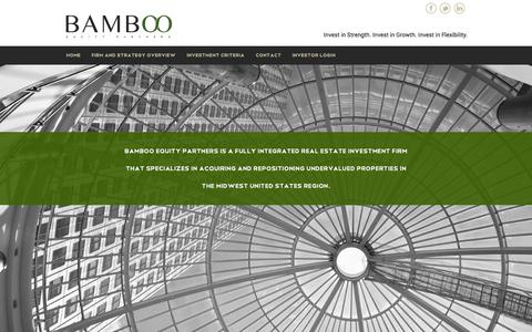 Screenshot of Home Page bambooequity.com - Bamboo Equity Partners - St Louis MO - captured Oct. 5, 2014