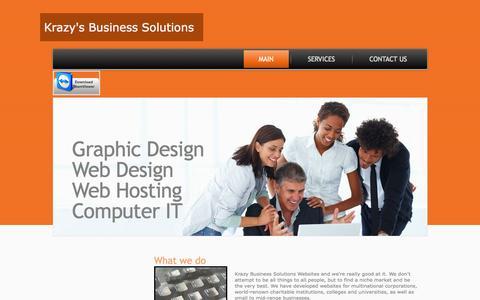 Screenshot of Home Page krazyanna.com - Main - captured Oct. 1, 2014