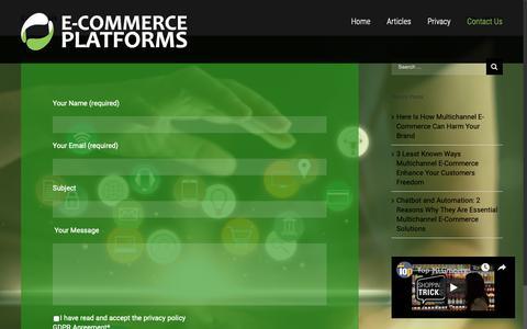 Screenshot of Contact Page pakotec-samples.com - Contact Us - captured Nov. 4, 2018