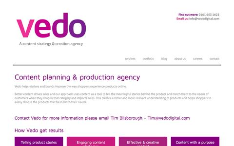 Screenshot of About Page vedodigital.com - Vedo - Content strategy and production agency - captured Nov. 6, 2016