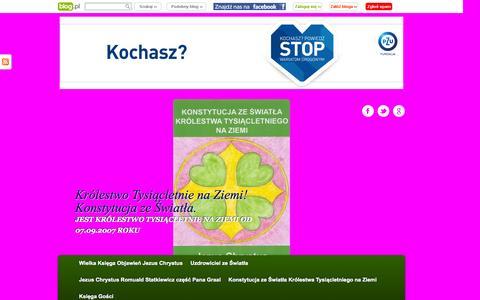 Screenshot of onet.pl - Królestwo Tysiącletnie na Ziemi! Konstytucja ze Światła. | JEST KRÓLESTWO TYSIĄCLETNIE NA ZIEMI OD 07.09.2007 ROKU - captured Sept. 4, 2015