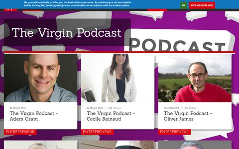 Screenshot of virgin.com - The Virgin Podcast | Virgin - captured March 30, 2016