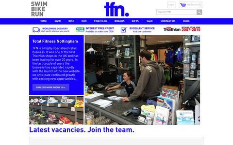 Screenshot of Jobs Page tfn.uk.com - Careers - captured June 25, 2016