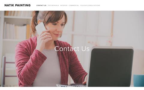 Screenshot of Contact Page natikpainting.ca - Contact Us — Natik Painting - captured Oct. 20, 2018