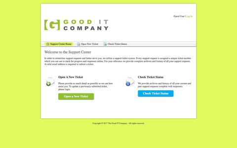 Screenshot of Support Page thegooditcompany.co.uk - The Good IT Company - captured Nov. 9, 2017