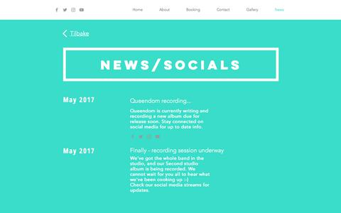 Screenshot of Press Page queendom.no - minside | News - captured Sept. 19, 2017