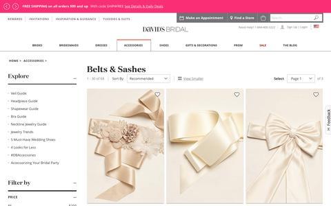 Bridal Sashes & Wedding Dress Belts | David's Bridal
